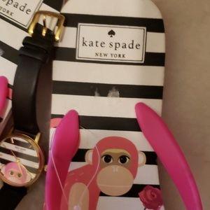 SOLD Kate Spade Monkey Flip Flops